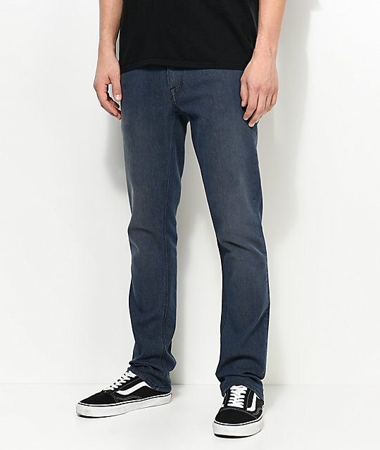 391bdff1 Volcom Vorta Blue Grey Slim Fit Jeans | Zumiez