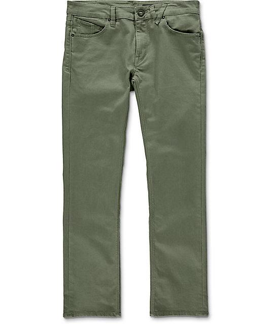 12f45b2c Volcom Vorta Military Green Slim Fit Jeans | Zumiez