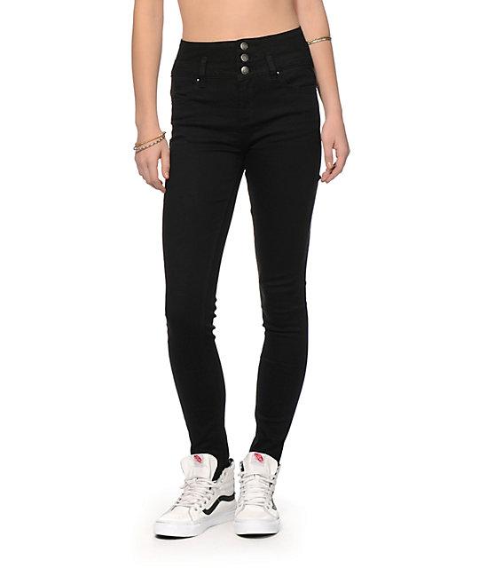 7a7aff7f70 YMI Black High Waisted Skinny Jeans | Zumiez