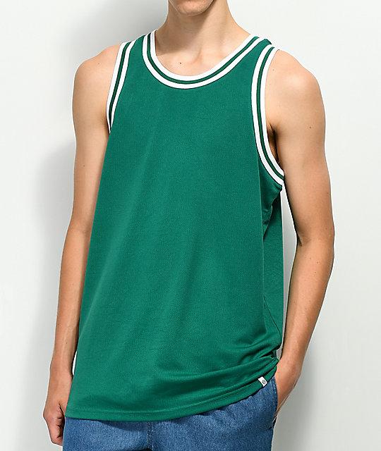 newest f0018 25faa Zine Players Green Mesh Basketball Jersey
