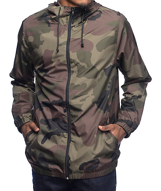74d77e04a2eec Zine Training Camo Lined Windbreaker Jacket | Zumiez