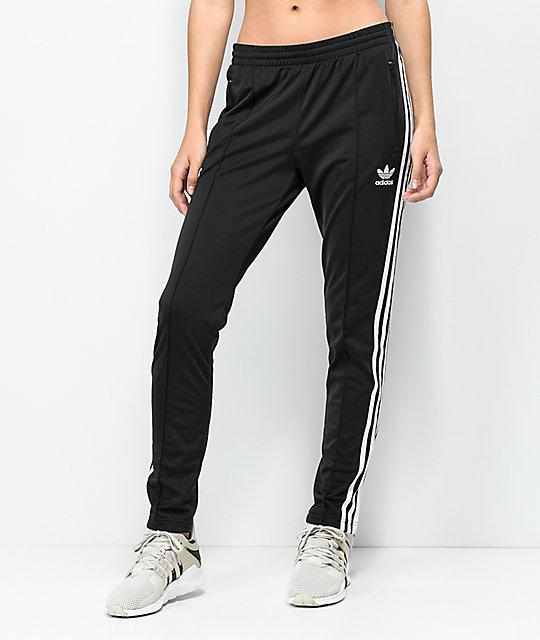 adabf88f65b2 adidas 3 Stripe Black Track Pants
