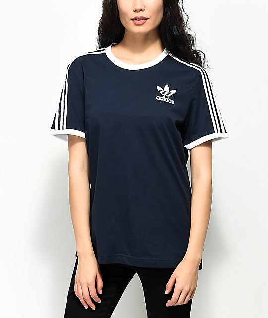 Adidas t shirt dress blue