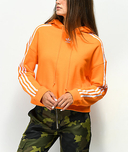 adidas cropped pullover hoodie
