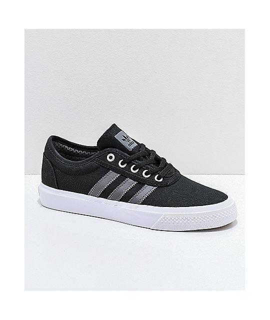 3c8f4bb7b8 adidas AdiEase Black, White & Grey Shoes | Zumiez
