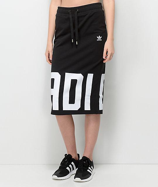 491f83b1fb adidas Black & White Midi Skirt | Zumiez