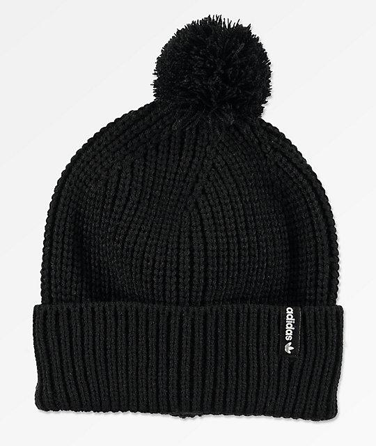 208abfe51ae30c adidas Black Pom Beanie | Zumiez