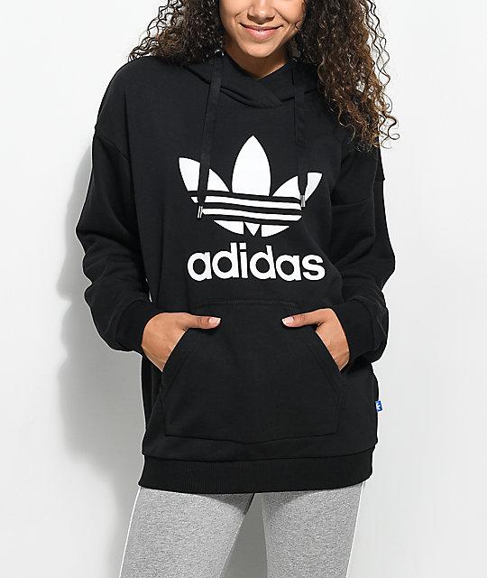 1b5a582d adidas Black Trefoil Hoodie | Zumiez