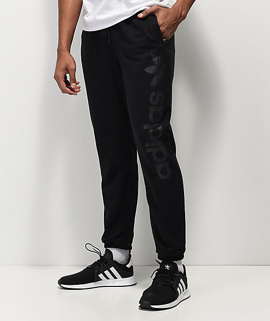 980348024 adidas Blackbird Black Jogger Sweatpants | Zumiez