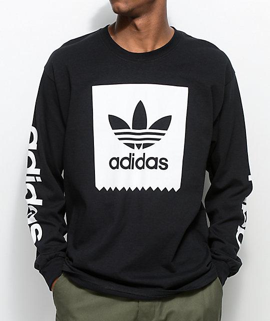 ef77abd2 adidas Blackbird Black Long Sleeve T-Shirt | Zumiez