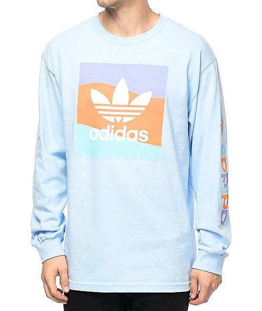 872ba2518c0f adidas Blackbird Blue Long Sleeve T-Shirt   Zumiez