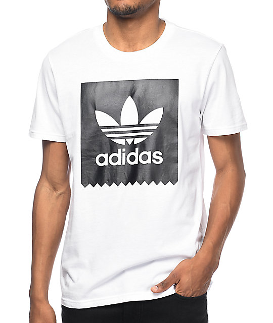 aa2de877e837bf adidas Blackbird Logo White T-Shirt | Zumiez