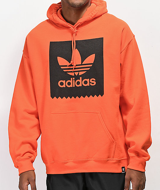 17869ee40 adidas Blackbird Orange Hoodie | Zumiez
