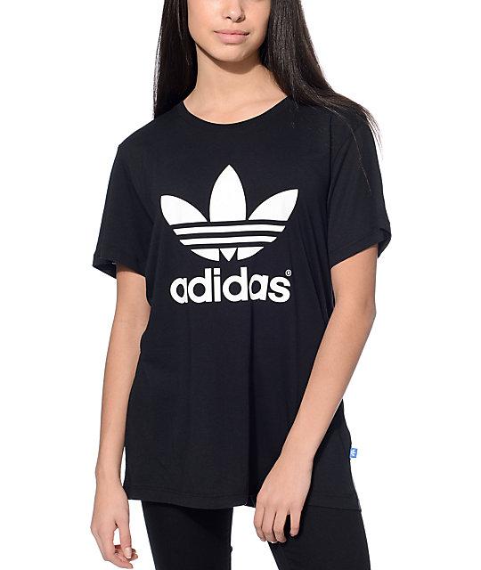 4b2dee3a adidas Boyfriend Trefoil Black T-Shirt   Zumiez