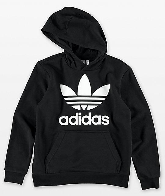 af29d0b01 adidas Boys Trefoil Black Hoodie   Zumiez