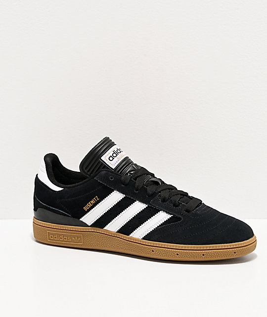reputable site 4cf86 0699e adidas Busenitz Black, White,   Gum Shoes   Zumiez