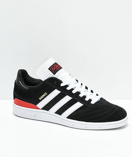adidas Busenitz Black, White & Red Shoes