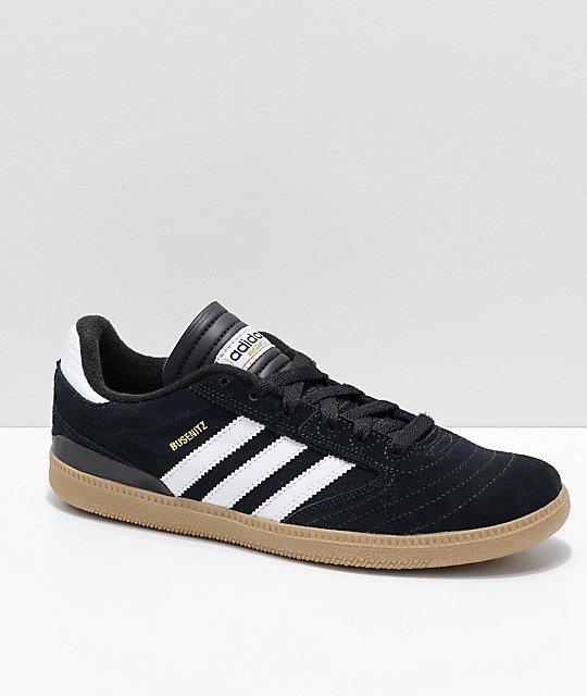 0c136e568e0a adidas Busenitz Pro Black, White & Gum Skate Shoes   Zumiez