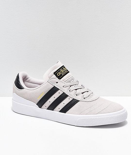3ee637409 adidas Busenitz Vulc Crystal White & Black Shoes   Zumiez