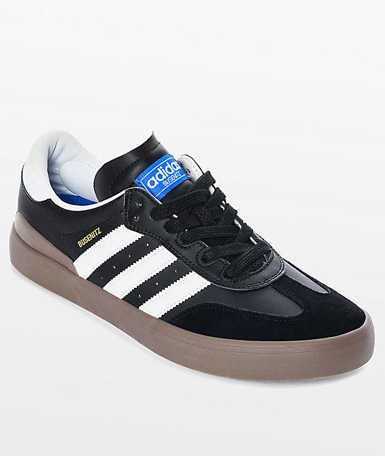 edd4c50ff603f adidas Busenitz Vulc Samba RX Black & White Shoes   Zumiez