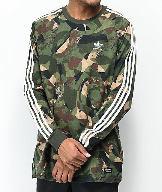 b40617f04c04 adidas CA Camo Long Sleeve T-Shirt | Zumiez