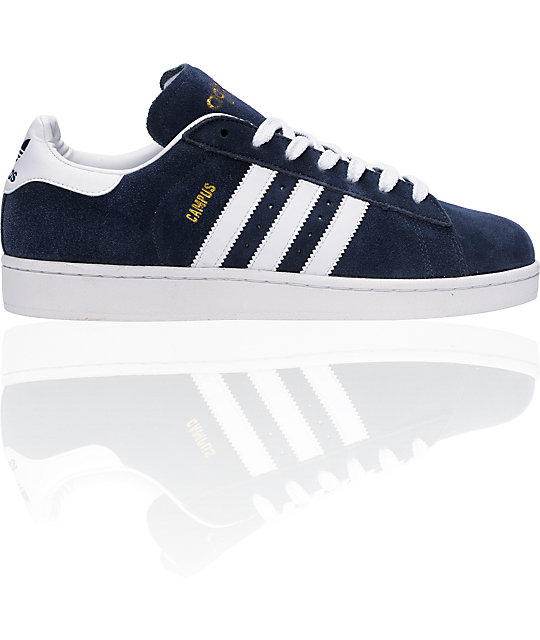 meilleure sélection d2367 8fa09 adidas Campus II Navy & White Suede Shoes | Zumiez