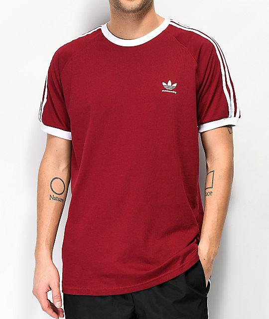 25509ccb9 adidas Clima California 2.0 Burgundy T-Shirt   Zumiez
