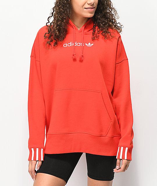 Con Coeeze Escarlata Sudadera Roja Capucha Adidas CxBQoerWEd