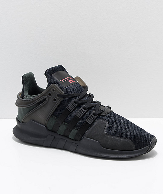 reputable site ccc85 a35d5 adidas EQT Support ADV All Black Shoes