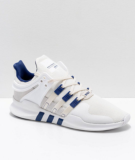 brand new ca1c5 02bbd adidas EQT Support ADV Cream & White Shoes