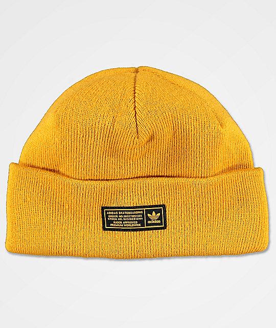 459cb3e360e adidas Joe Yellow Beanie   Zumiez
