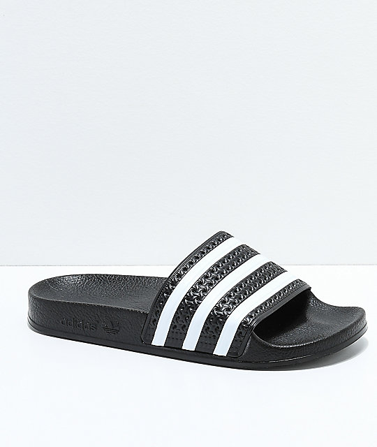 4bc79133b8d8 adidas Kids Adilette Black Slide Sandals