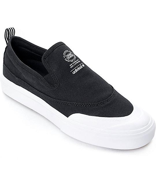 buy popular f6b6c 1e03d adidas Matchcourt Black   White Slip On Shoes   Zumiez