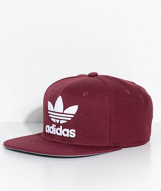2c0b9039d895f adidas Men's Trefoil Chain Maroon Snapback Hat