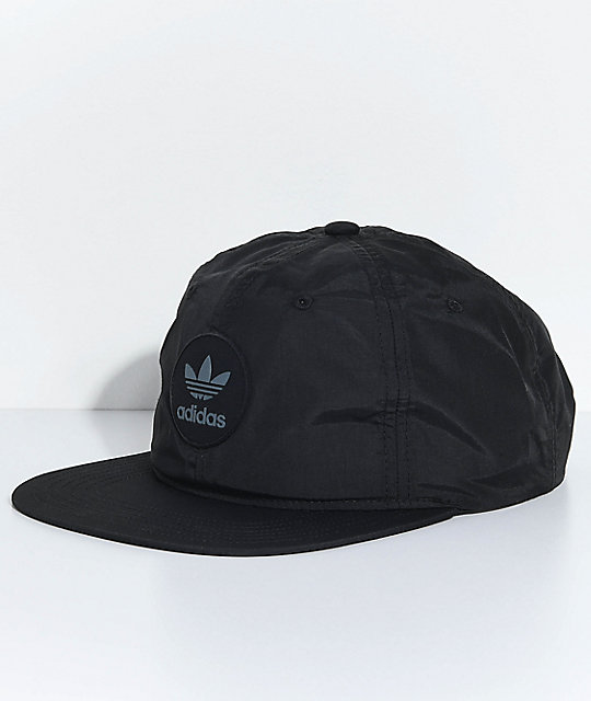 2e9fd9c5 adidas Men's Trefoil Unstructured Black Snapback Hat | Zumiez