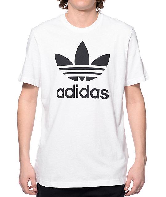 Original Adidas Blanca Blanca Trefoil Trefoil Original Camiseta Camiseta Adidas nyv80mNOw