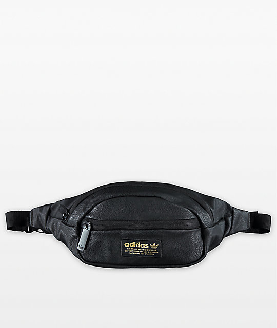 adidas Originals Black   Gold Waist Pack  5161370e825a7