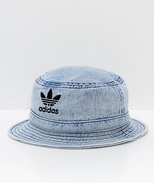 06eff5f0 adidas Originals Light Blue Washed Denim Bucket Hat | Zumiez