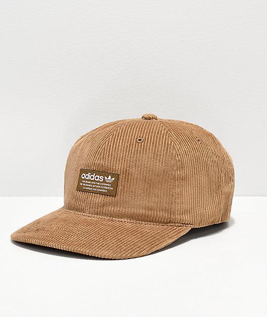 2e15217d56478 adidas Originals Relaxed Desert Corduroy Strapback Hat | Zumiez