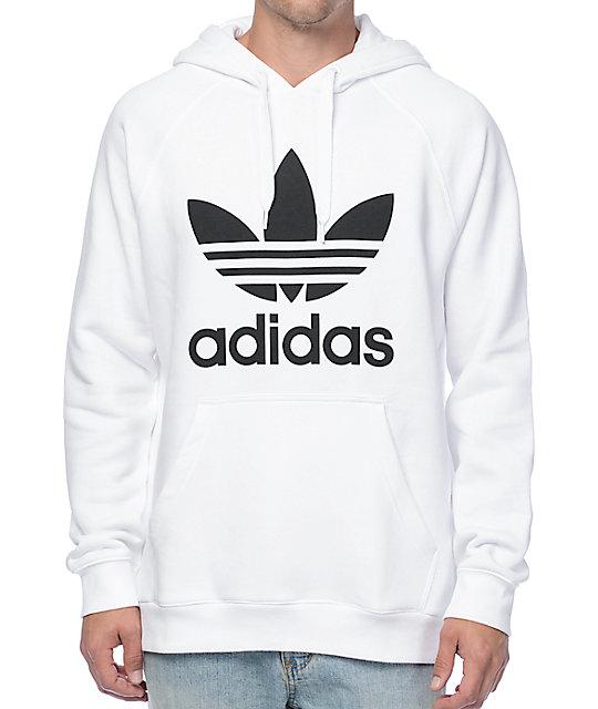 c8488dcf adidas Originals Trefoil White Hoodie | Zumiez