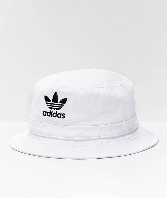64c46d7c164e82 adidas Originals White Denim Bucket Hat | Zumiez