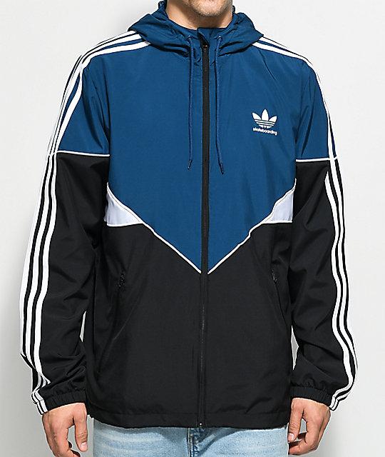 4f7c3efe5 adidas Premier Black, Blue & White Jacket | Zumiez