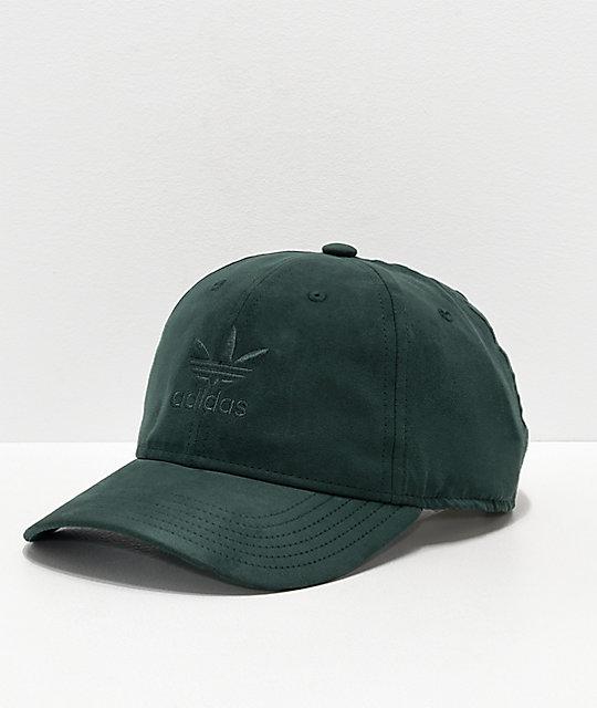 c69c344b9ab2 adidas Relaxed Plus Green Strapback Hat | Zumiez