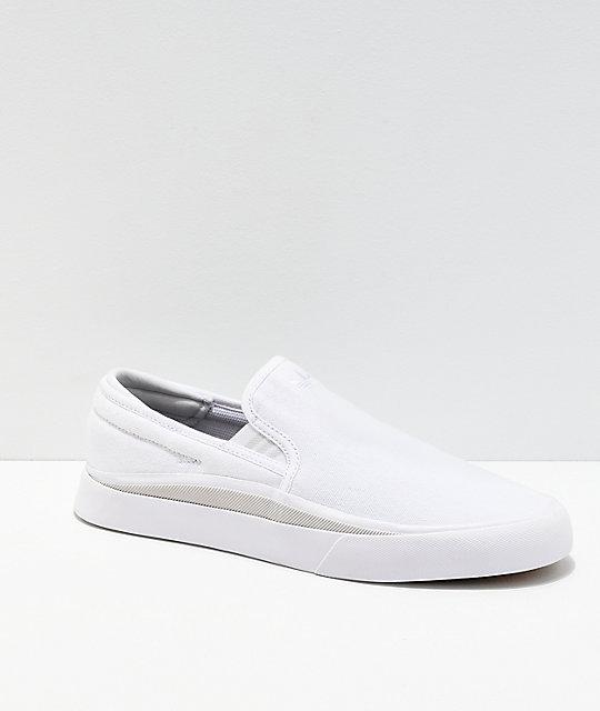 adidas Sabalo White & Grey Canvas Slip On Shoes