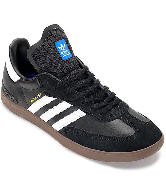 477bc7895 adidas Samba ADV Black, White & Gum Shoes | Zumiez