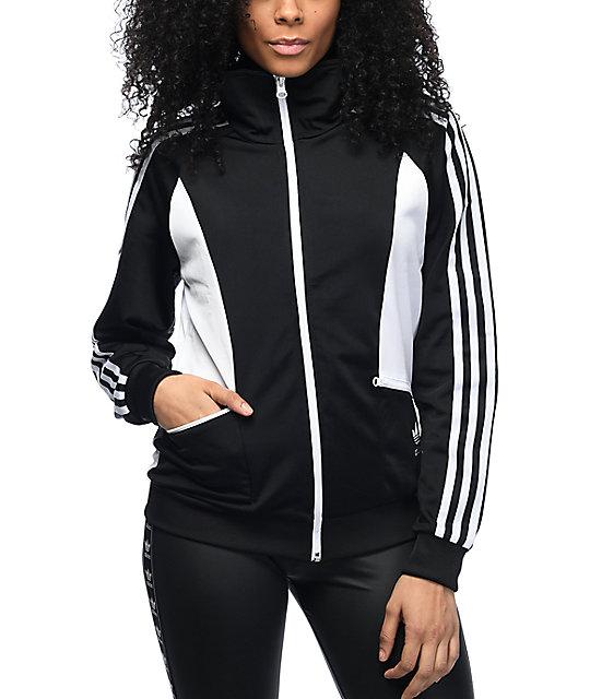 46bb988e5 adidas Sandra Black & White Track Jacket   Zumiez