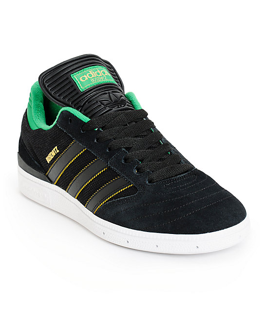 5817f5ef adidas Skate Copa Busenitz Black, Green, & Yellow Shoes | Zumiez