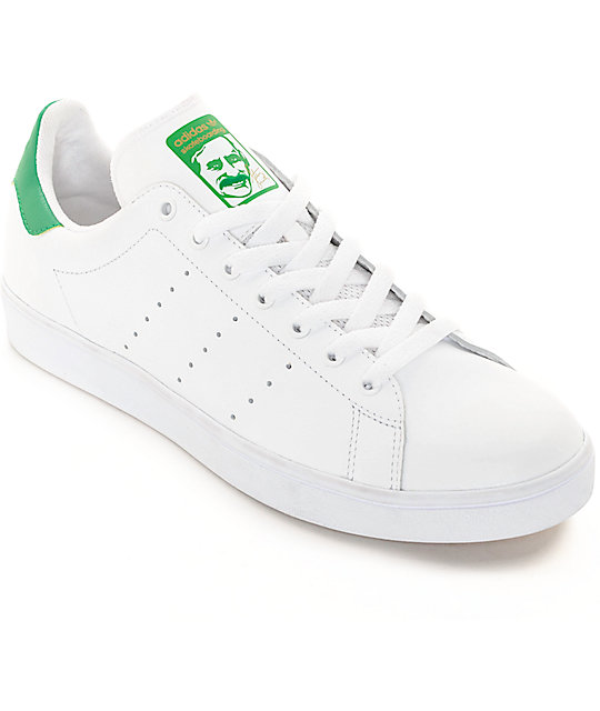 cheap for discount 76220 c6ca9 adidas Stan Smith White & Green Shoes