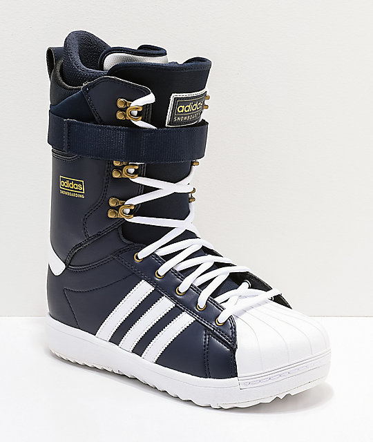 the latest 5037a d194f adidas Superstar ADV Navy Snowboard Boots 2019