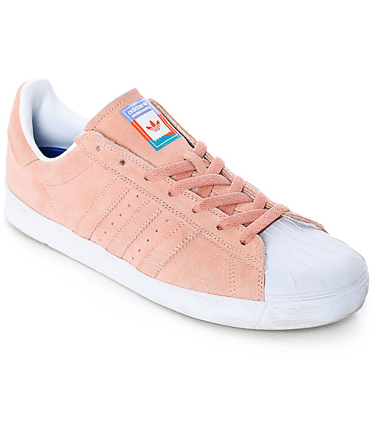 photos officielles 0f4ea 99c6f adidas Superstar Vulc ADV Pastel Pink Shoes
